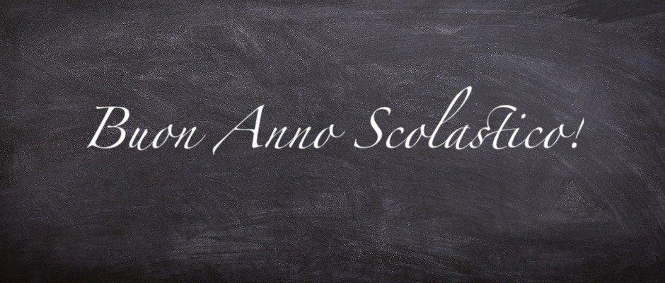 SI APRE OGGI IL NUOVO ANNO SCOLASTICO: si ritorna a scuola!
