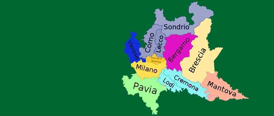 Gli ambiti territoriali della Lombardia