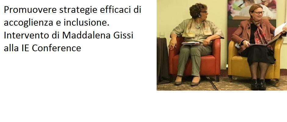 Promuovere strategie efficaci di accoglienza e inclusione. Intervento di Maddalena Gissi alla IE Conference