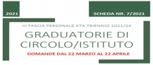 Graduatorie TERZA Fascia